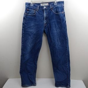 Men's 33x29 Levi's 505 straight leg blue jeans